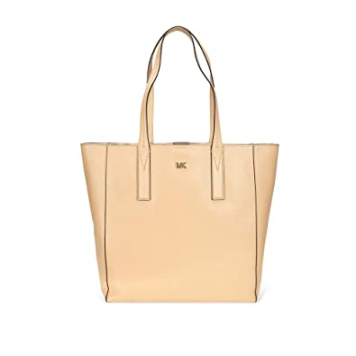 96e5c2720ab4 Amazon.com: Michael Kors Junie Large Pebbled Leather Tote- Butternut: Shoes
