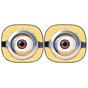 Despicable Me Minion Made Minions Auto Car Truck SUV Vehicle Universal Fit Front Windshield Sunshade - Spring Pop Up Sun Shade