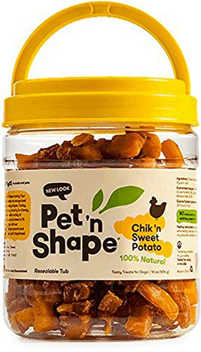 (Pet 'n Shape Chik 'n Sweet Potato Dog Treats, Chicken, 16 Ounce, 3 Pack)