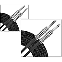2 Pack Musician's Gear Standard Instrument Cable Braid-20 ft. (Black)