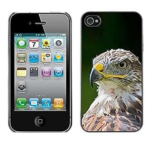 """For Apple iPhone 4 / 4S Case , Las plumas de Eagle del halcón pájaro verde de verano"""" - Diseño Patrón Teléfono Caso Cubierta Case Bumper Duro Protección Case Cover Funda"""