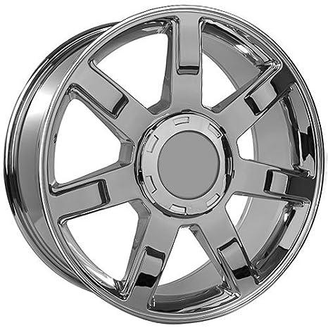 Amazon Com 22 Inch Cadillac Escalade Chrome Replica Wheels Rims