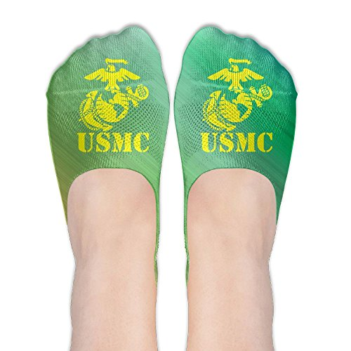 USMC Marine Corps Womens Thin Casual No Show Socks Non Slip Flat Boat Line by Wendengly