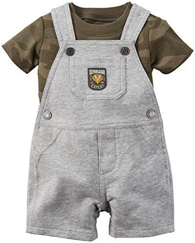 Carter's Baby Boys' 2 Piece Shortall Set 121g352, Camo, 18 - Boy Shortalls Baby