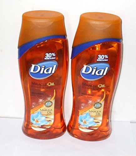 Dial Miracle Oil Restoring Body Wash, 21 FL OZ (Pack of 2)