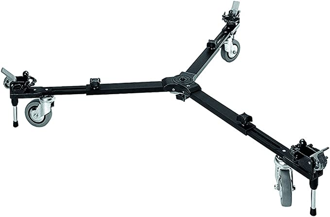 Negro Manfrotto 127 Basic Dolly Pies para monopies