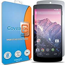 LG Nexus 5 (2013) Tempered Glass Screen Protector by CoverON® [Ultra Thin] 9H True HD Clear Screen Protector for LG Nexus 5 (2013)