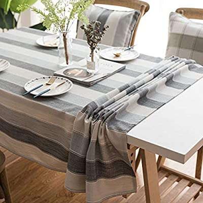 NLSH - Mantel rectangular con diseño de rayas, mesa de café ...