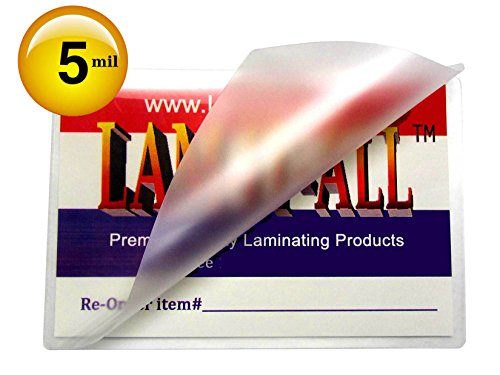 LAM-IT-ALL 5 Mil Hot Luggage Tag Laminating Pouches with NO Slot (Pack of 100) 2-1/2 X 4-1/4 Clear by LAM-IT-ALL