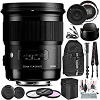 Sigma 50mm f/1.4 DG HSM Art Lens for Canon EF with Sigma USB Dock and Accessory Bundle