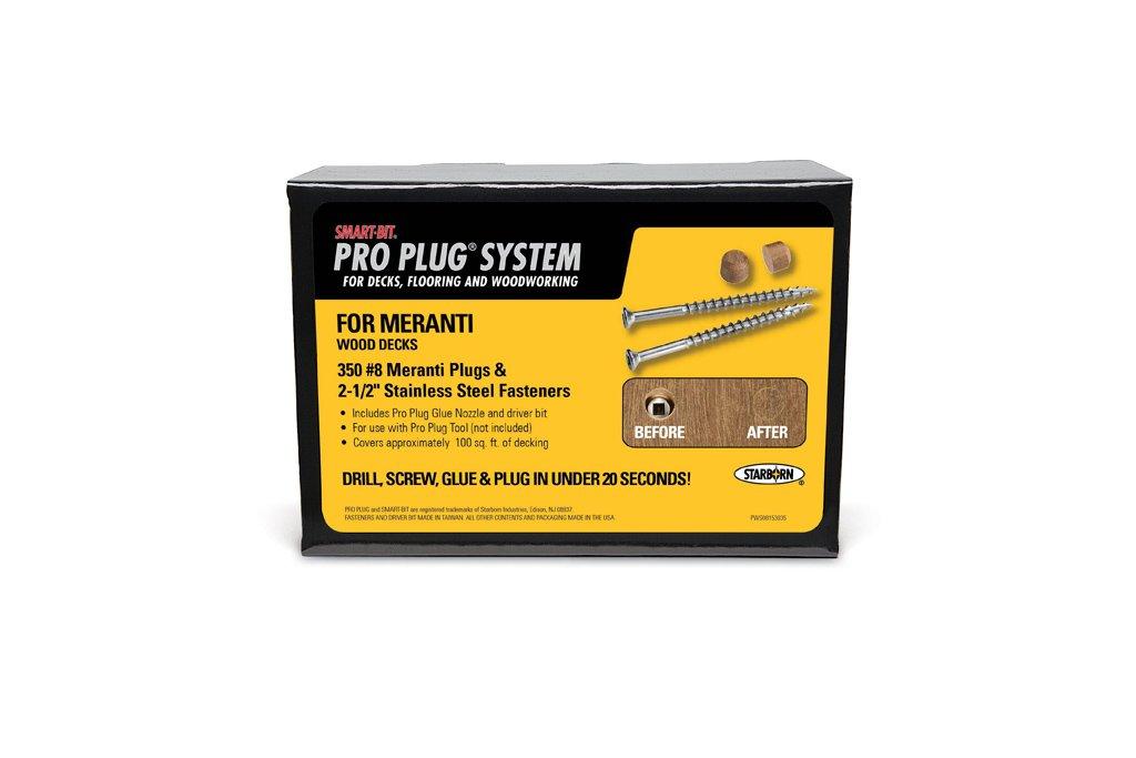 PRO PLUG SYSTEM Plug & Fastener Decking Kit for Merbau - 350 pc - Plugs made from MANGARIS DIAMOND MERBAU 5/16'' diameter