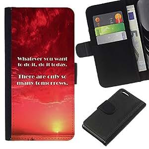 Planetar® Modelo colorido cuero carpeta tirón caso cubierta piel Holster Funda protección Para Apple iPhone 5C ( Hoy Mañana Momento hacer cita )
