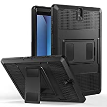 """MoKo Galaxy Tab S3 9.7 Case - [Heavy Duty] Shockproof Defender Full Body Rugged Hybrid Cover with Built-in Screen Protector for Samsung Galaxy Tab S3 9.7"""" Android 7.0 2017 Tablet (SM-T820/T825), BLACK"""