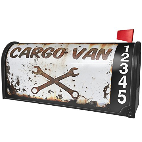 NEONBLOND Rusty old look car Cargo van Magnetic Mailbox Cover Custom ()