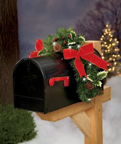 Christmas Holiday Lighted Mailbox Swag New Other Holiday Seasonal Décor Holiday Seasonal Décor