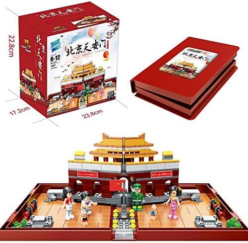 Faironly Pekín Tiananmen Bloques Cuadrados de construcción con Caja de Almacenamiento Juguetes educativos: Amazon.es: Hogar