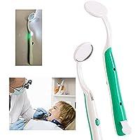2 piezas Espejo Dental con Luz LED Inspección