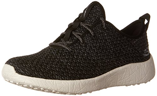 Skechers Sport Damen Burst City Scene Fashion Sneaker Schwarz-Weiss
