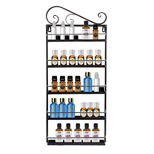 Professional Metal Nail Polish Essential Oils Mountable 5 Tier Organizer Display Rack - Dazone® (Black)
