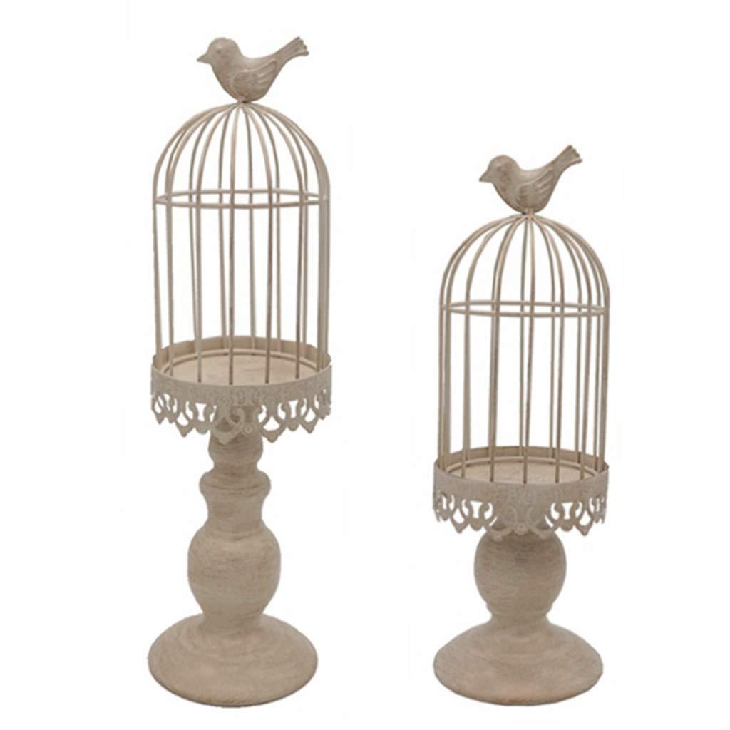 JAGENIE Candlestick,Metal Hollow Candle Holder Stand Tealight Candlestick Lantern Wedding Home Decor