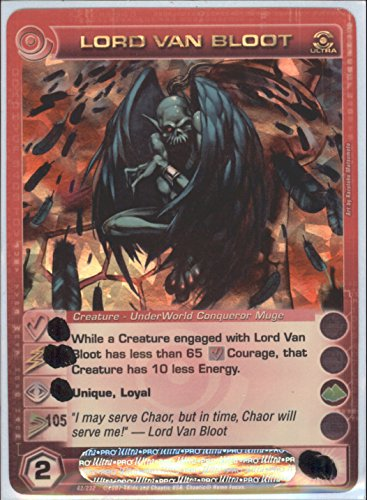 LORD VAN BLOOT Chaotic Ultra Rare Foil Card MAX SPEED STAT OF 105 Dawn of Perim