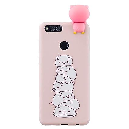 Amazon.com: SHUNDA Huawei Honor 7X Funda, Super Cute ...