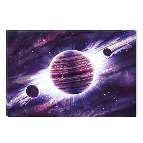 Startonight Canvas Wall Art Purple Universe Abstract Landscape,