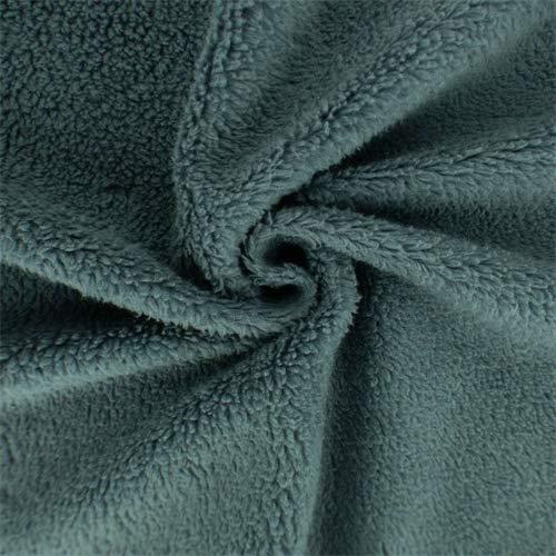 Cool Grey Single-Sided Berber Fleece, Fabric by The Yard