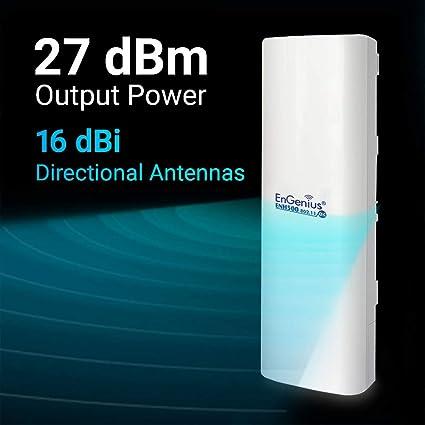 PTP//PTMP EnGenius EnJet/™ Outdoor 5GHz AC Wave 2 WiFi 5 Plug-n-Go CPE//Client Bridge with 16 dBi High-Gain Antenna 2-Pack IP55 ENH500v3 KIT 27dBm Long-Range