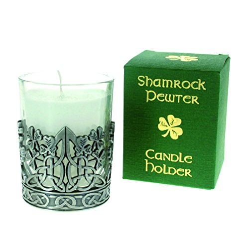 Pewter Candle Holder-Shamrock