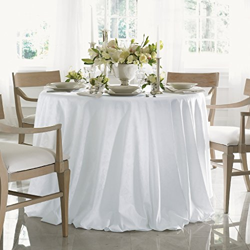 Acanthus by Sferra - Oblong Tablecloth 70x162 (White) by Sferra