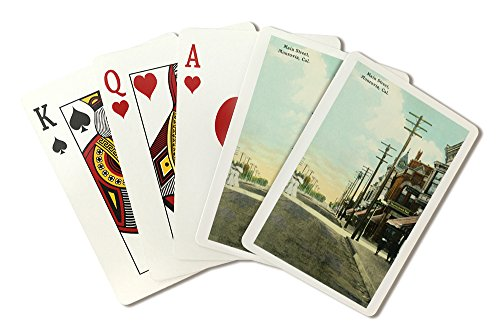 Monrovia, California - View of Main Street (Playing Card Deck - 52 Card Poker Size with Jokers)