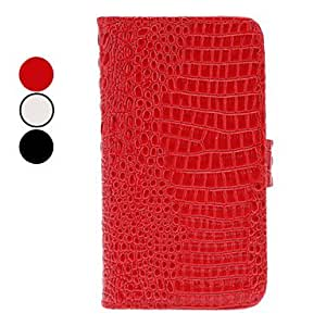 Crocodile Grain Full Body Case with Card Slot and Stand for Samsung Galaxy S2 I9100 (Assorted Colors) --- COLOR:Black