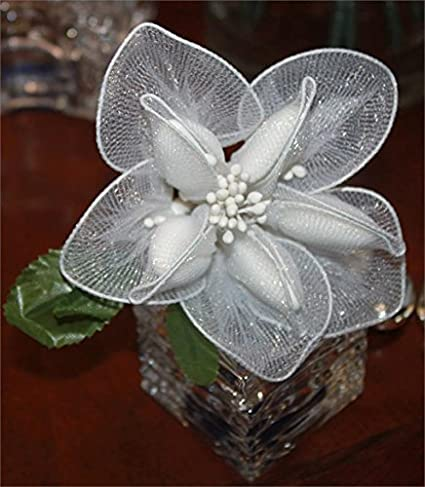 jordan almonds flower bouquet wedding favors in calla lily design