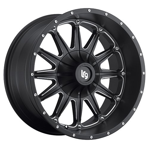 LRG Rims LRG103 Sandman Black Wheel with Milled Accents 17x9//5x139.7mm