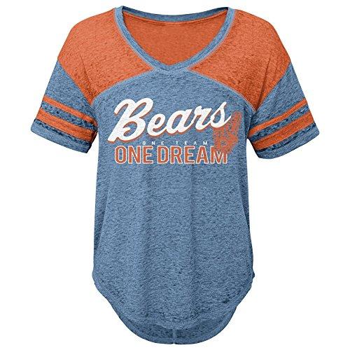 tage Short Sleeve Football Tee, Chicago Bears, Deep Obsidian, S(3-5) ()