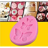 Helen Zora DIY Cake Fondant Mould Silicone Lace Mold Sugar Craft Butterfly Cake Decorating Tool