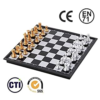 Youdepot Imports Magnetic Travel Chess Set (9.7 Inches) - Portable - Perfectly Travel-Sized - Complete Playing Pieces Included in Set