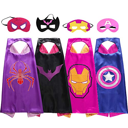 Girl Superhero Costume (Superdaddy Superhero Dress up Costumes Capes and Masks for)