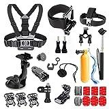 Greleaves Basic Outdoor Sports Accessories Kit for AKASO EK7000 GoPro Hero 5 GoPro Hero Black Silver GoPro Session 5 SJ Cam YI 4K Action Camera