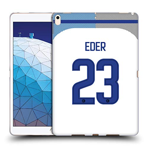 Official Inter Milan Eder Martins 2017/18 Players Away Kit Group 1 Soft Gel Case Compatible for iPad Air (2019)