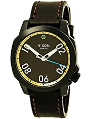 Nixon Ranger 40 Leather All Black / Brass / Brown Stainless Steel Analog Watch
