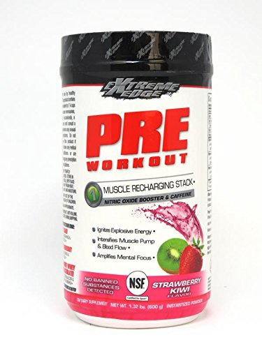 Bluebonnet Nutrition Extreme Edge Pre Workout, Strawberry Kiwi, 1.32 Pound