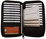 Unisex Leather Zip Around Credit Card Holder Tall Wallet With Staggered Inserts