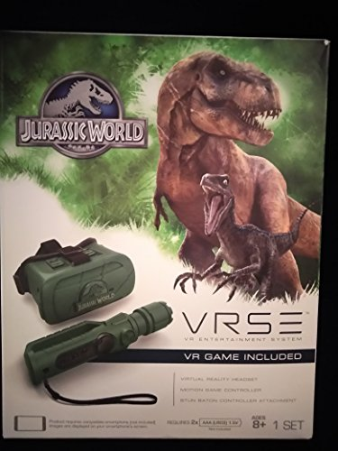 Jurassic World VRSE VR Entertainment System Escape From Isla Nublar Compatible Smartphone Required Virtual Reality Headset Motion Game Controller Stun Baton Controller Attachment Ages 8+ by Sky Rocket
