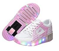 Kinder Junge Mädchen Led Heelys Schuhe Sneaker Mit Rollen 7 Farbe Farbwechsel...