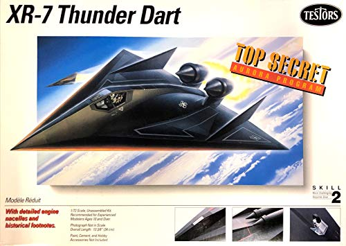 Testors XR-7 THUNDER DART Aurora Stealth Jet 1/72 Model Kit