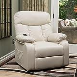 Edenton Light Beige Leather Lift Up Chair