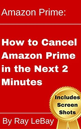 how to cancel your amazon prime account