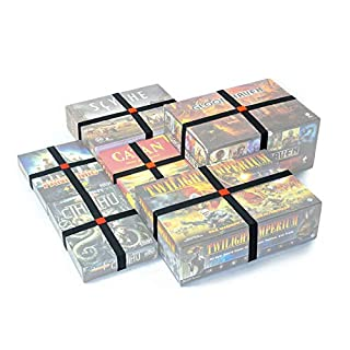 Premium Elastic Box Bands - Board Game Storage Solution to Keep Your Board Games, Tabletop Games, RPGs & Other Boxes Closed and Protected Without Rubbing! Extra Strong & Elastic Organizer (Set of 4)